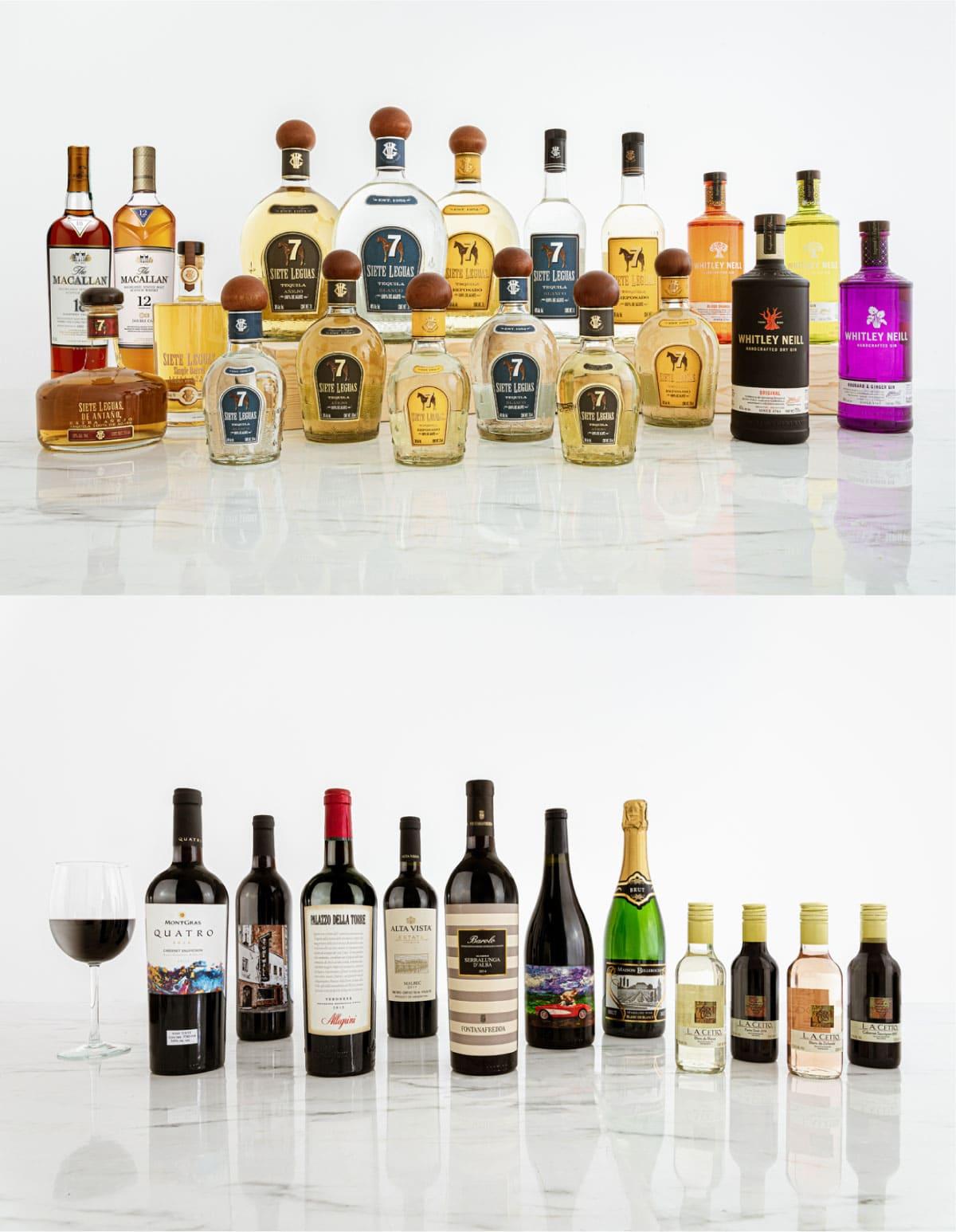 Vinos, destilados y licores